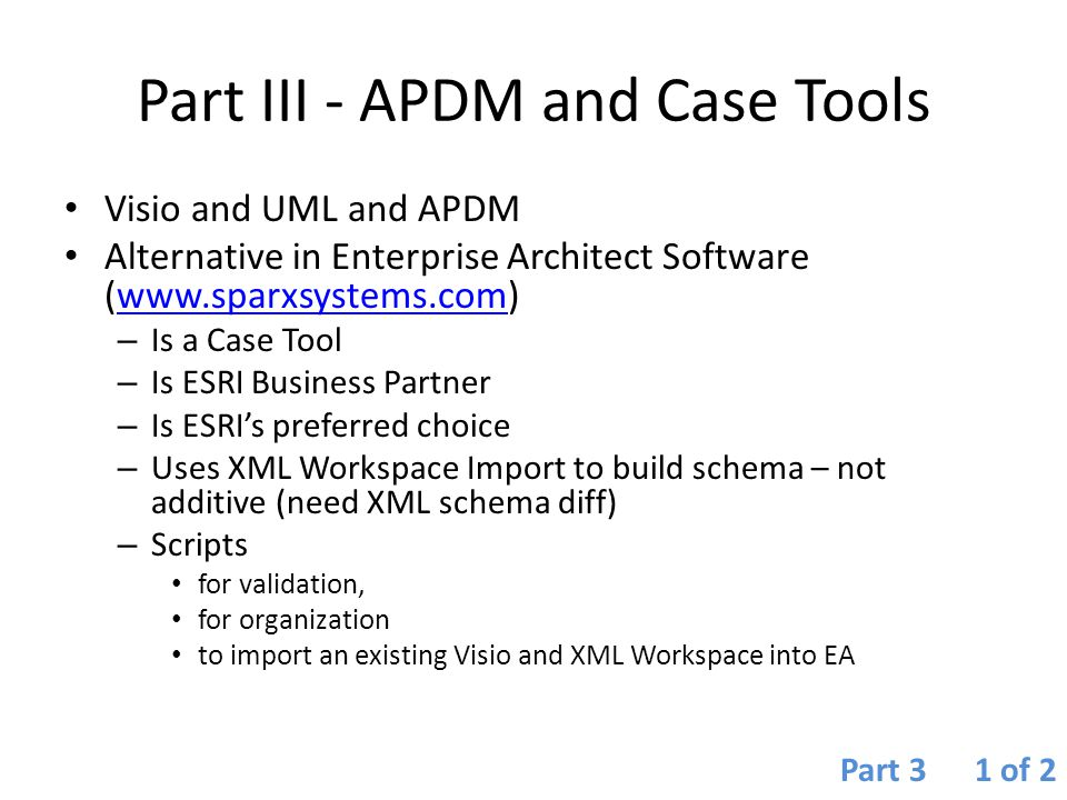 Part III - APDM and Case Tools