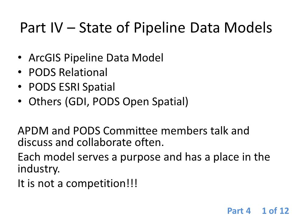 Part IV – State of Pipeline Data Models