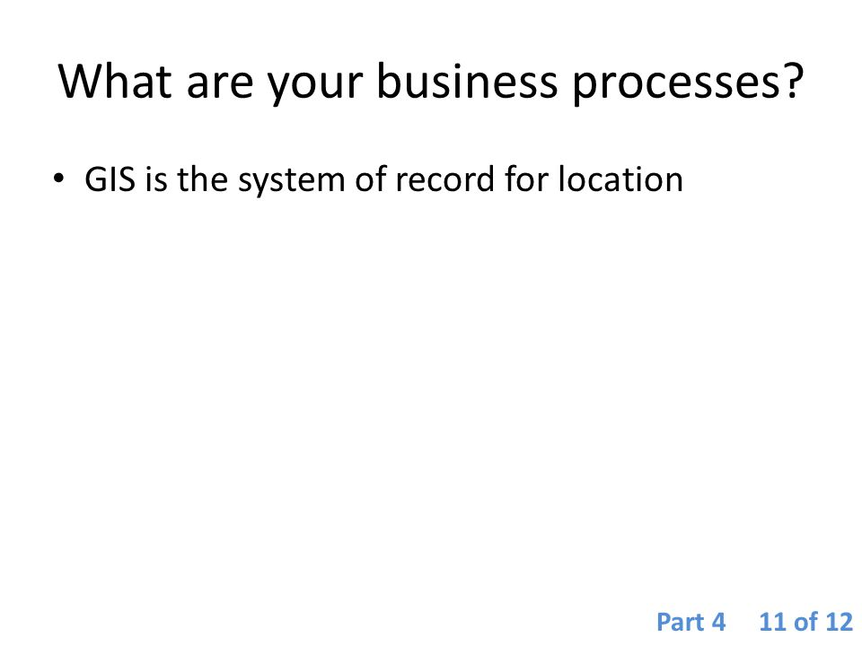 What are your business processes