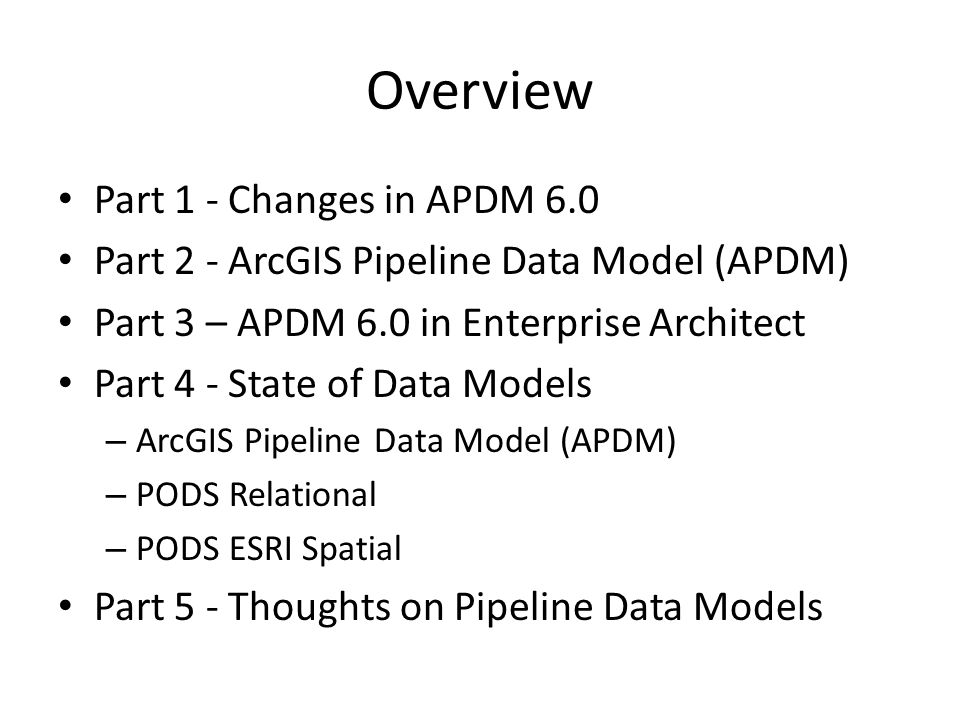 Overview Part 1 - Changes in APDM 6.0