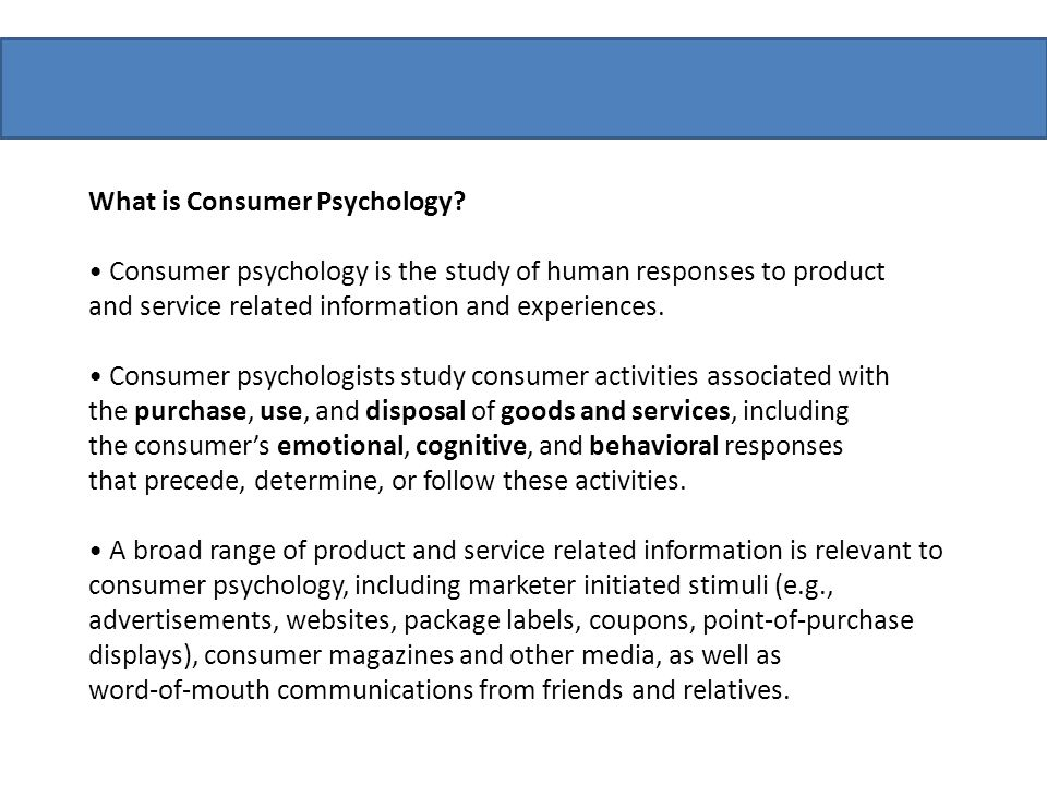 What is Consumer Psychology