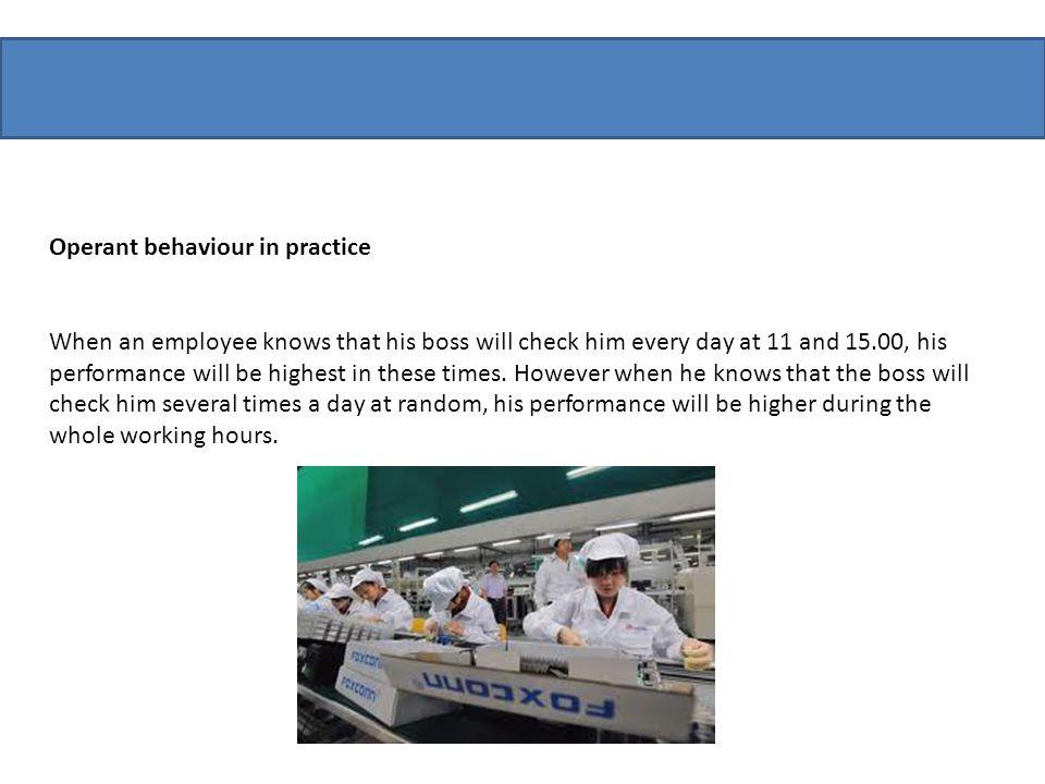 Operant behaviour in practice