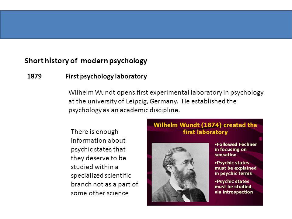 Short history of modern psychology