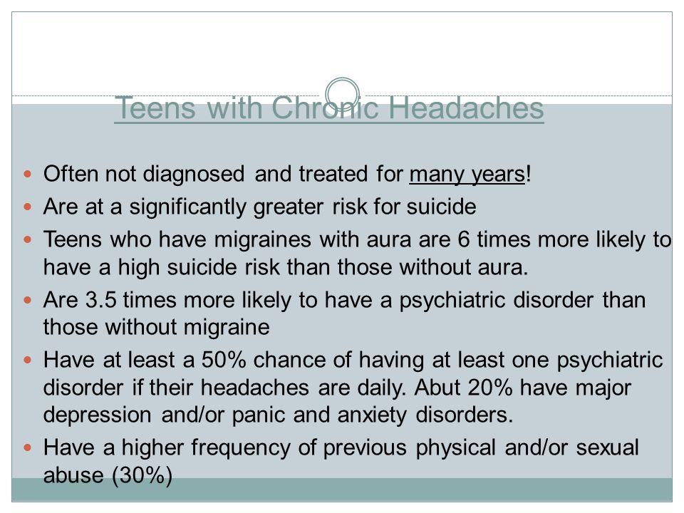 Teens with Chronic Headaches