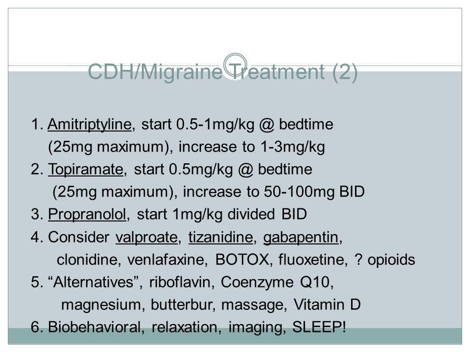 CDH/Migraine Treatment (2)