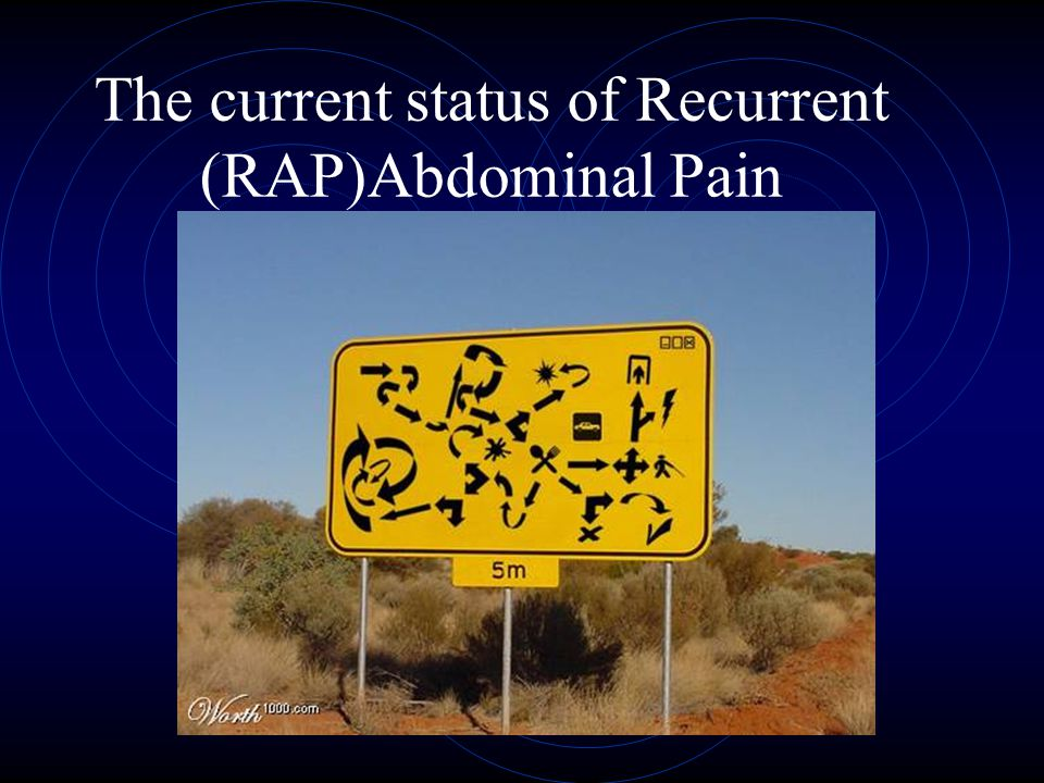 The current status of Recurrent (RAP)Abdominal Pain