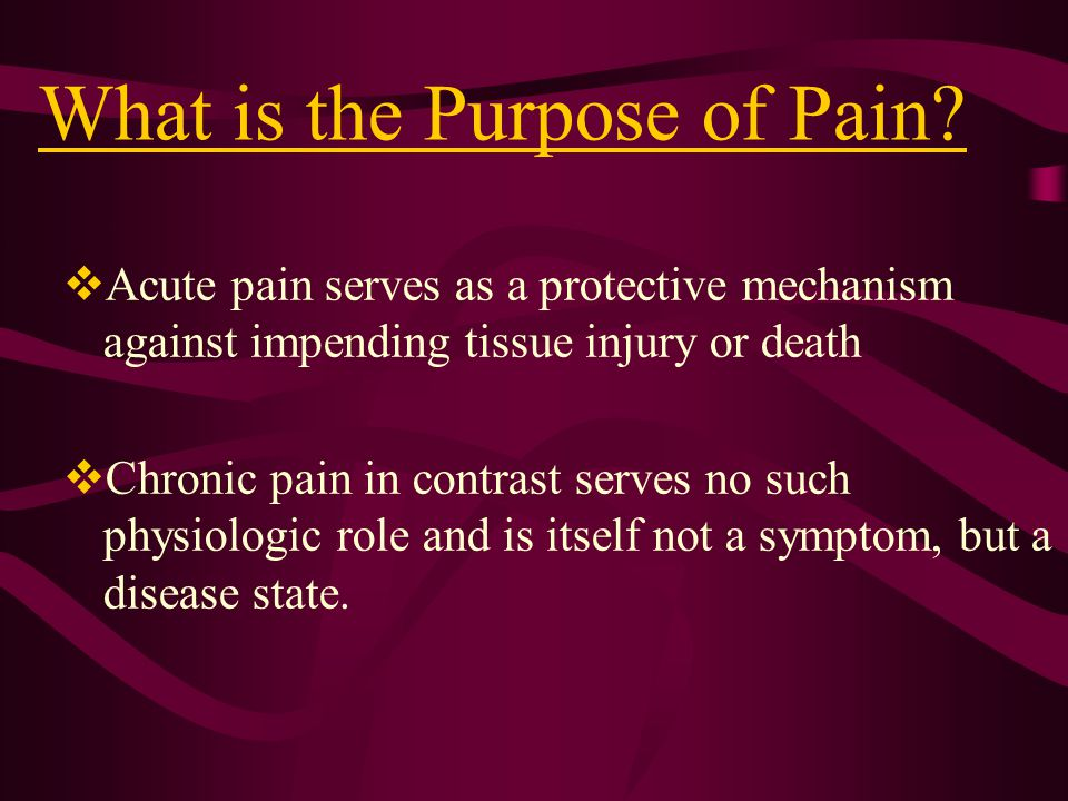 What is the Purpose of Pain