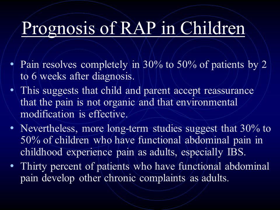 Prognosis of RAP in Children
