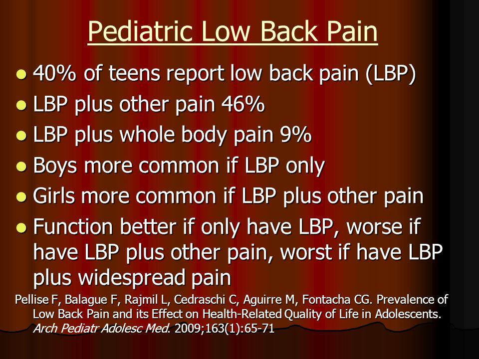 Pediatric Low Back Pain