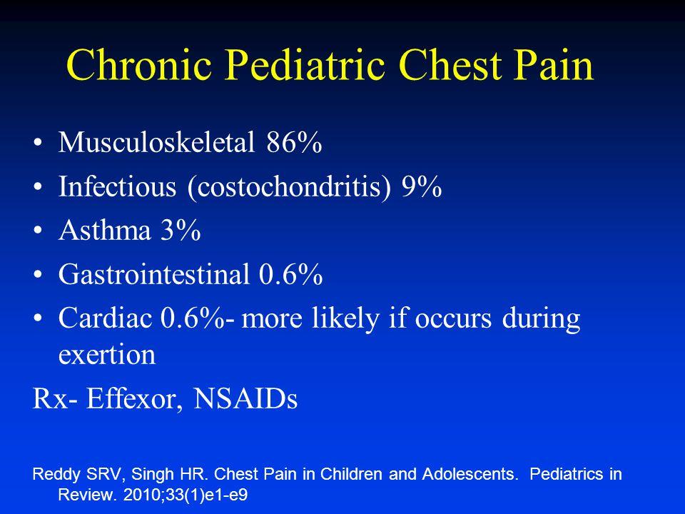 Chronic Pediatric Chest Pain