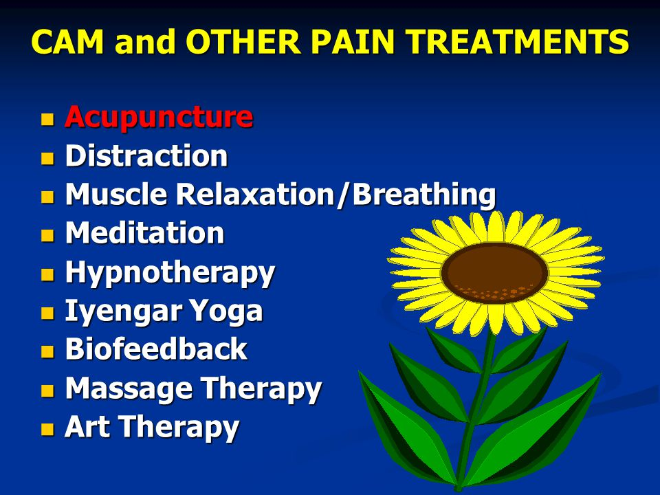 CAM and OTHER PAIN TREATMENTS