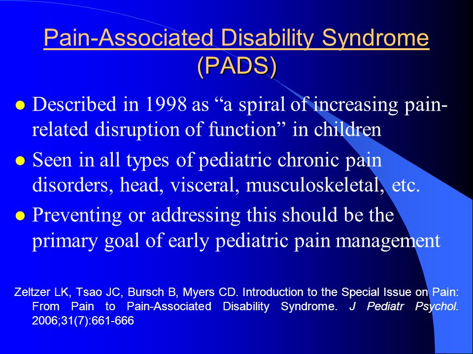 Pain-Associated Disability Syndrome (PADS)