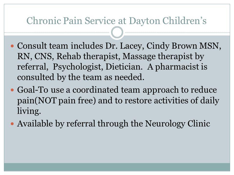 Chronic Pain Service at Dayton Children's