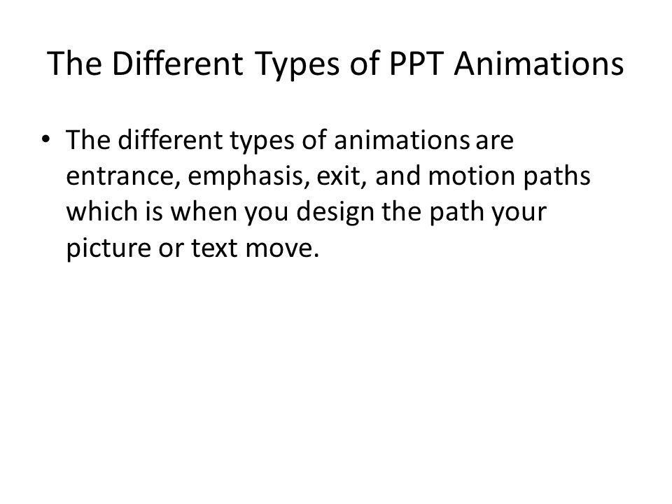 The Different Types of PPT Animations