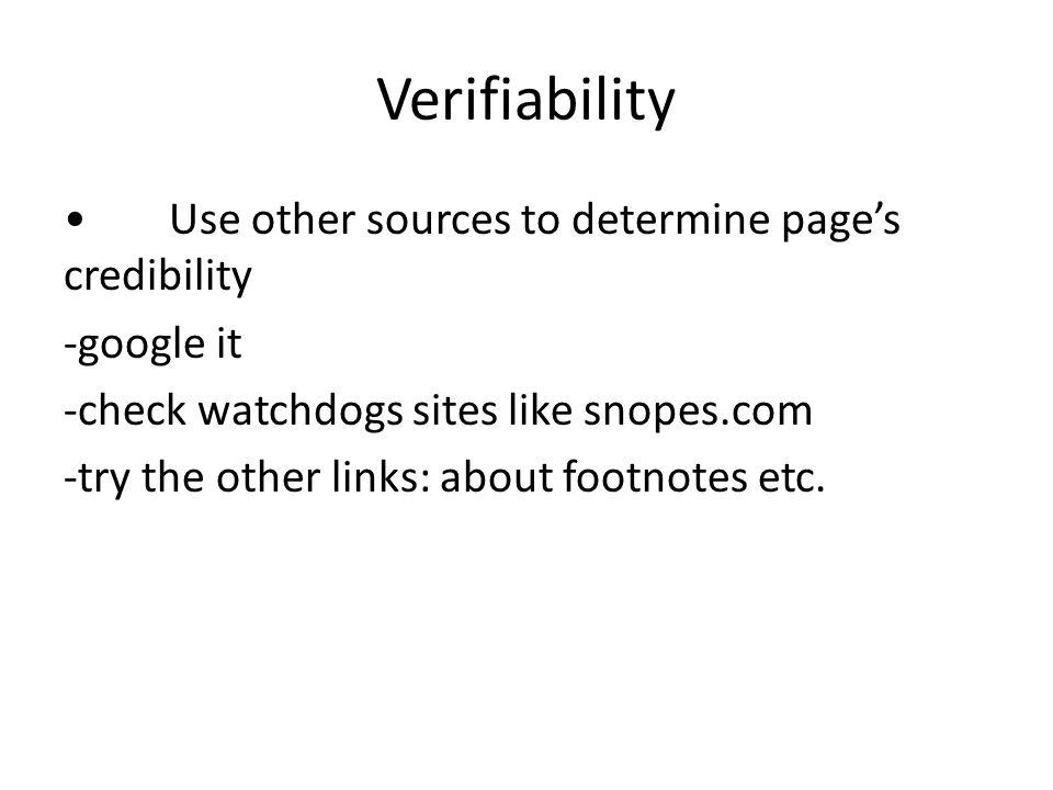 Verifiability