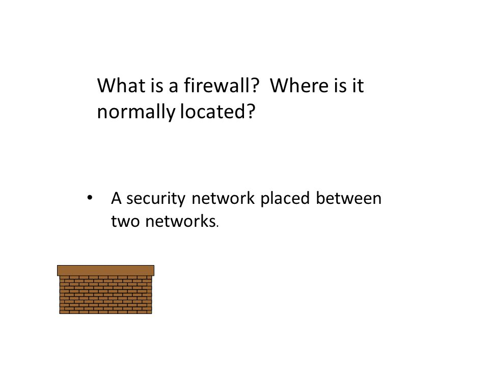 What is a firewall Where is it normally located