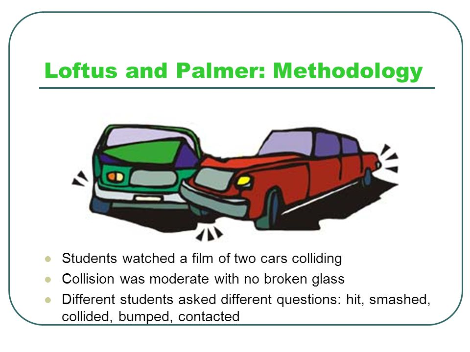 Loftus and Palmer: Methodology