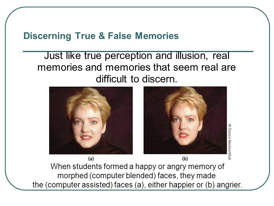 Discerning True & False Memories