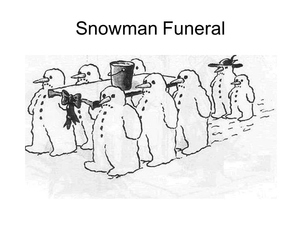 Snowman Funeral