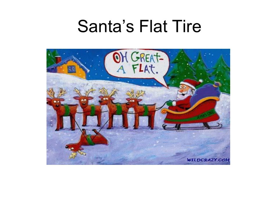 Santa's Flat Tire