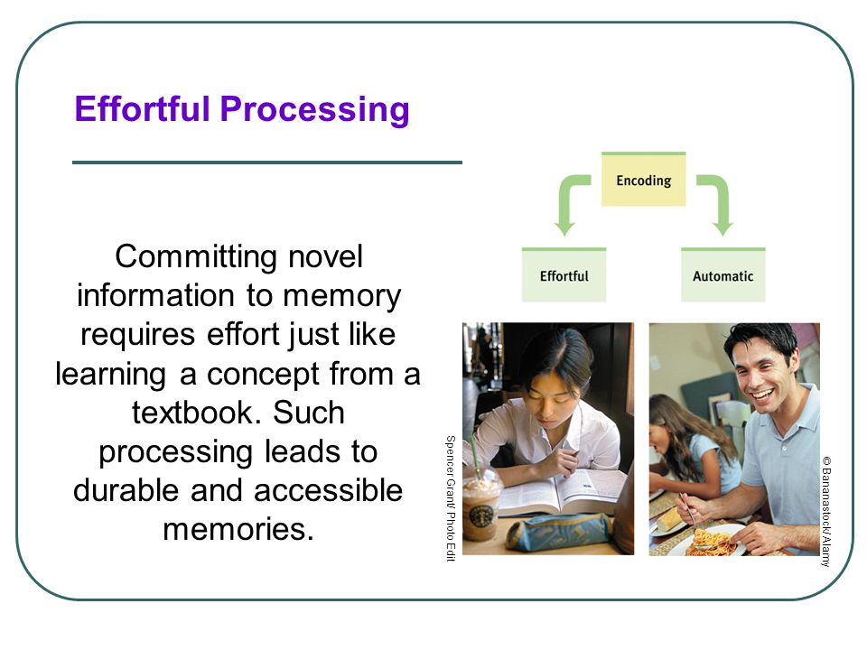 Effortful Processing