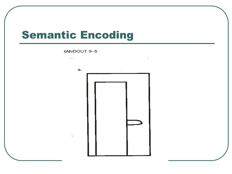 Semantic Encoding