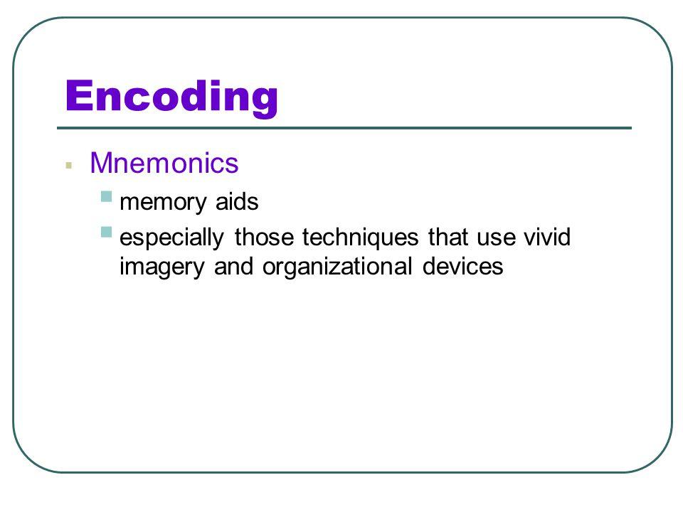 Encoding Mnemonics memory aids