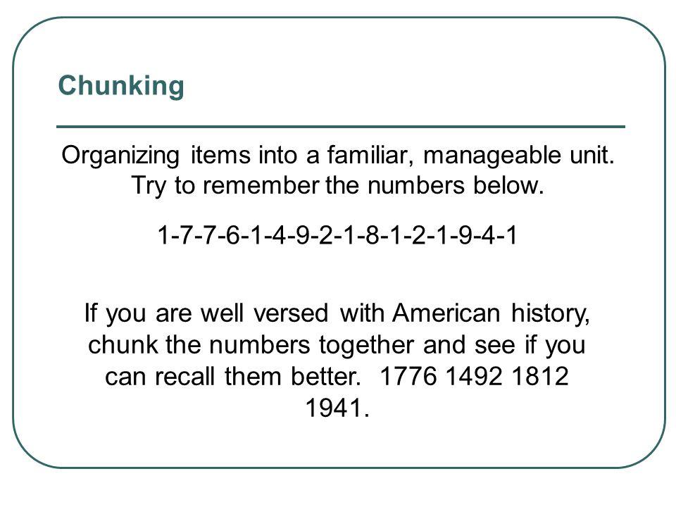 Chunking 1-7-7-6-1-4-9-2-1-8-1-2-1-9-4-1
