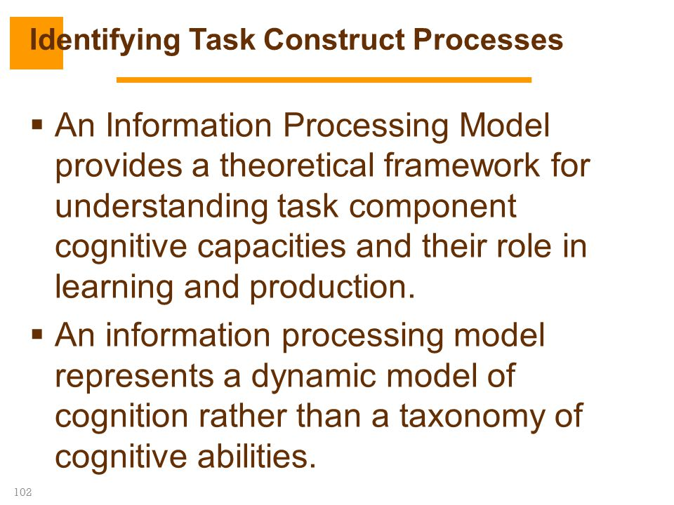 Identifying Task Construct Processes