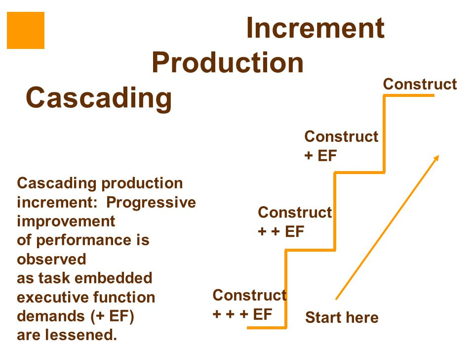 Increment Production Cascading