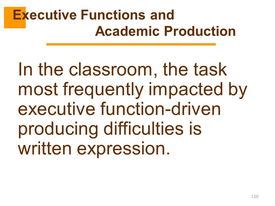 Executive Functions and Academic Production