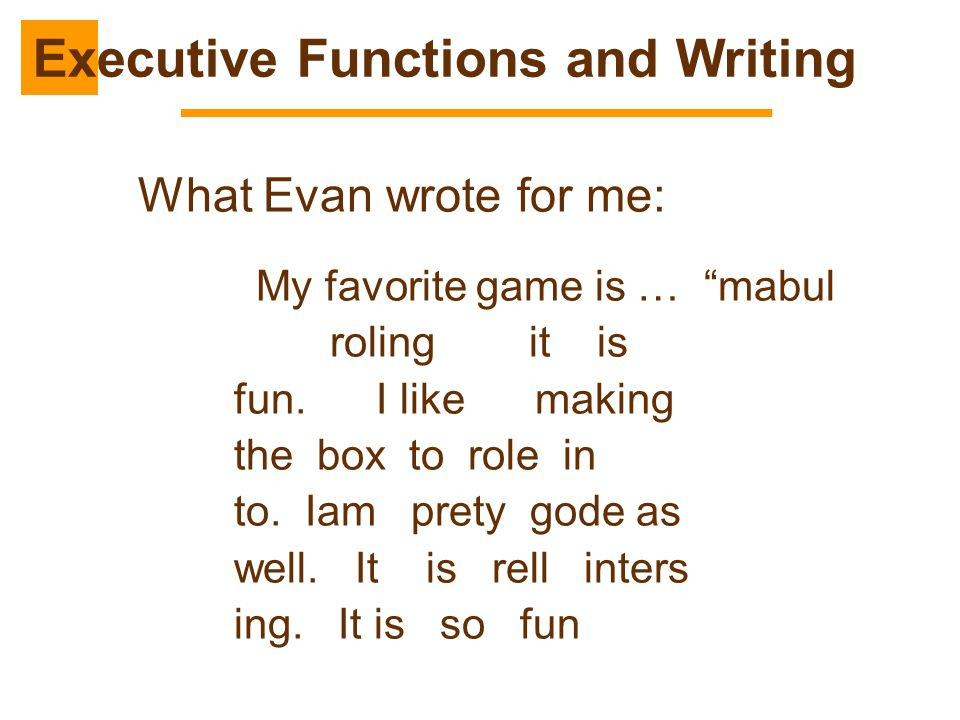 Executive Functions and Writing