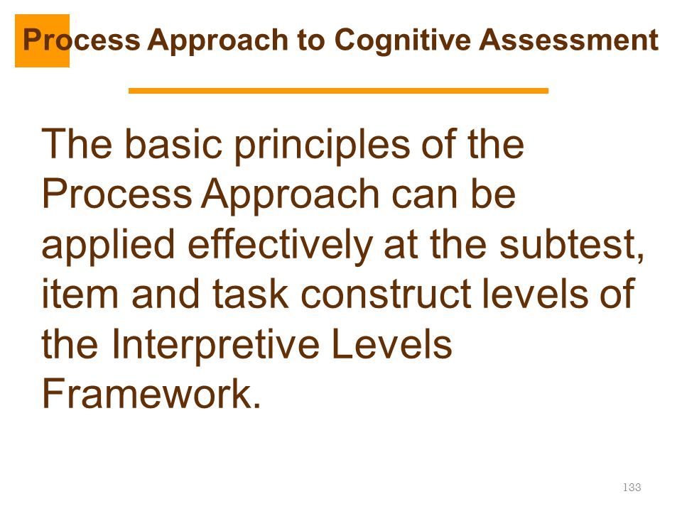 Process Approach to Cognitive Assessment