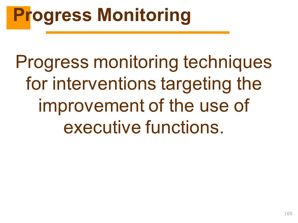 Progress Monitoring Executive Functions.