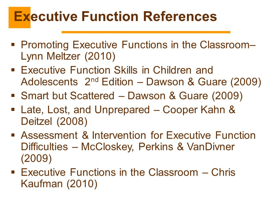 Executive Function References