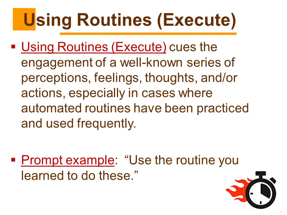 Using Routines (Execute)