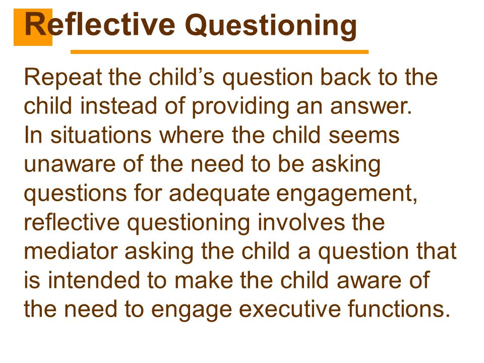Reflective Questioning