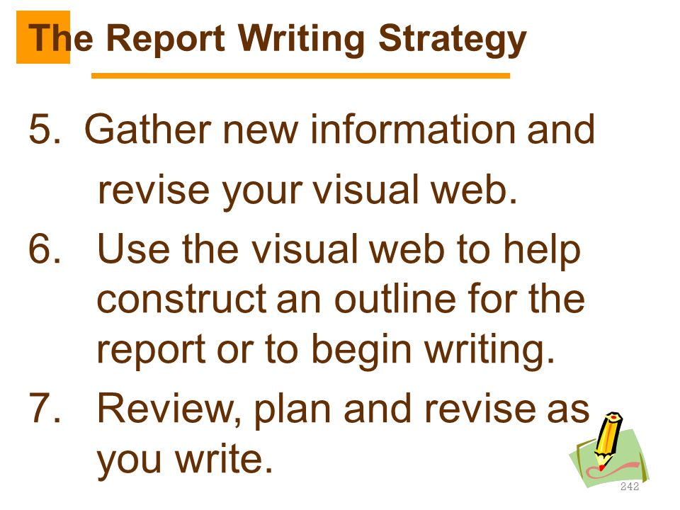 The Report Writing Strategy