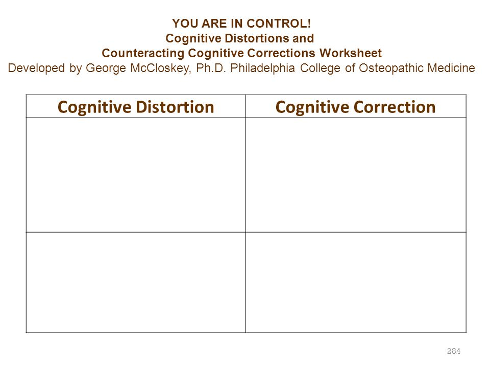 Cognitive Distortions and