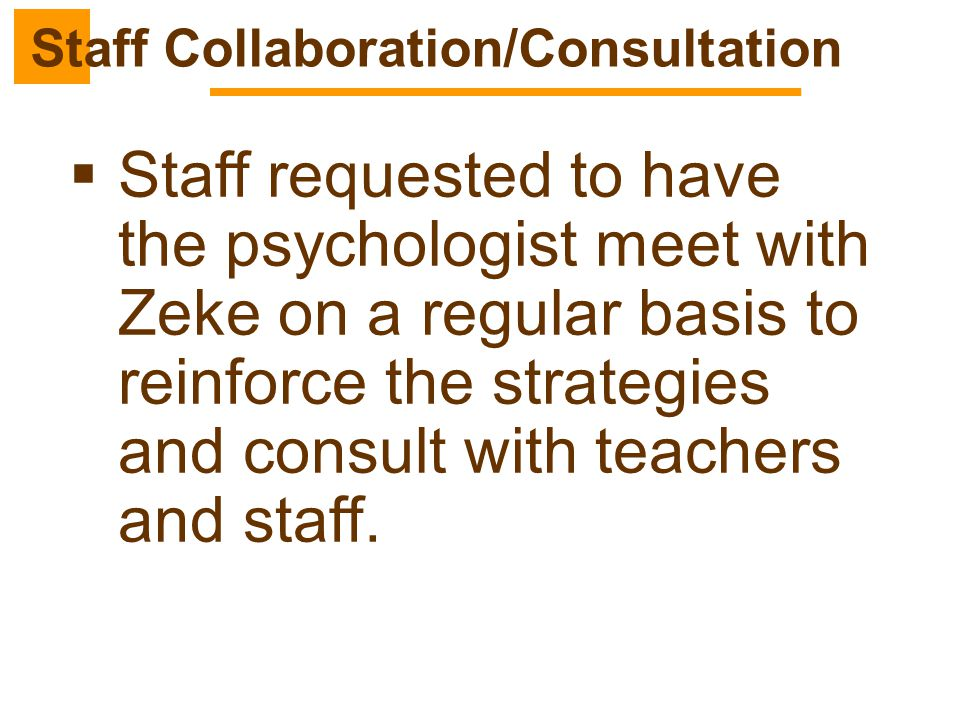 Staff Collaboration/Consultation