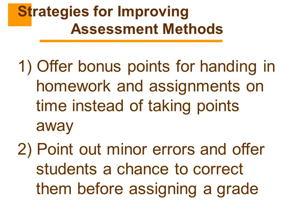 Strategies for Improving Assessment Methods