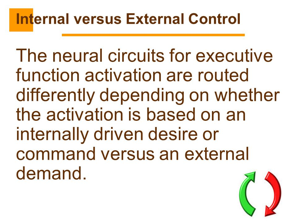 Internal versus External Control