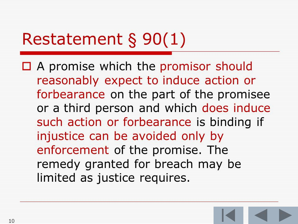 Restatement § 90(1)