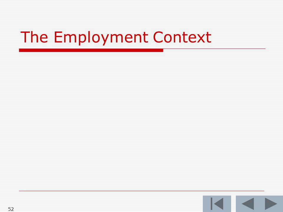 The Employment Context