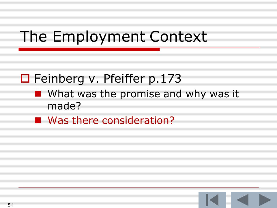 The Employment Context