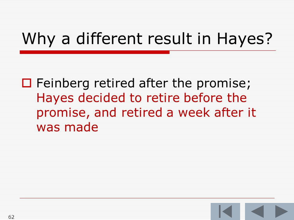 Why a different result in Hayes