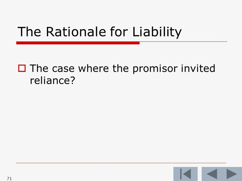 The Rationale for Liability