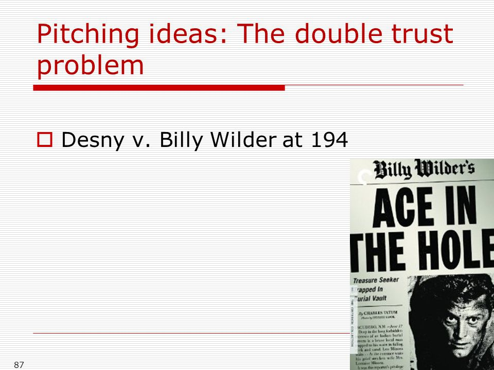 Pitching ideas: The double trust problem
