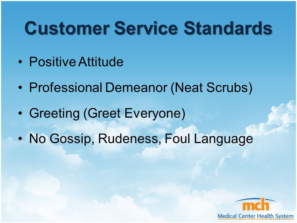 """customer service standards and conditions The human resources standards of performance are designed to provide our customers with a  ourselves as we move toward """"customer focused service."""