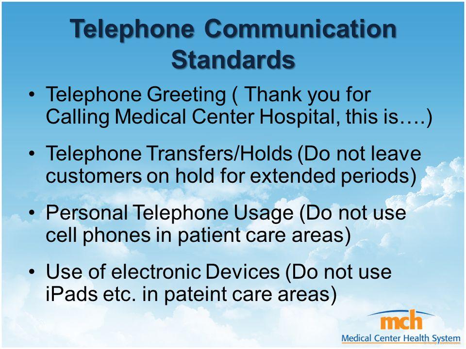 Telephone Communication Standards